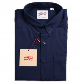 Рубашка Naked and Famous Regular Oxford Navy