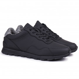 Кеды CLAE Hoffman Black Coated Leather