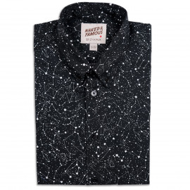 Рубашка Naked and Famous Regular Constellations Print Black