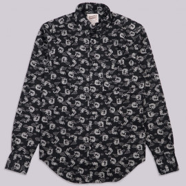 Рубашка Naked and Famous Regular Shirt - Dragon Print - Black