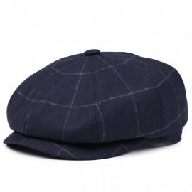 Классическая кепка Zefear Восьмиклинка 802 Volterra - Темно-синяя клетка