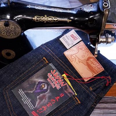 Фактурная ткань джинсов