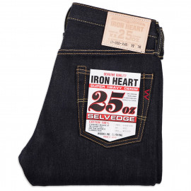 Джинсы Iron Heart IH-666-XHS Slim Straight Cut Indigo 25oz Selvedge