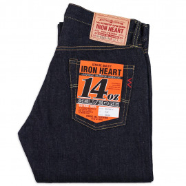 Джинсы Iron Heart IH-634S-14 Straight Cut Indigo 14oz Selvedge