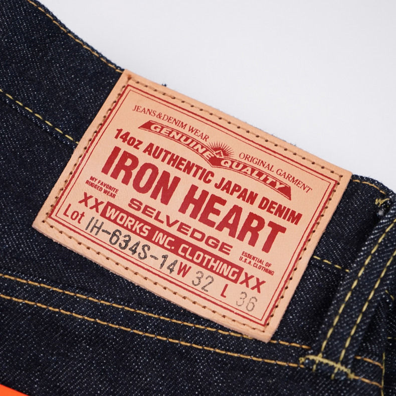 Джинсы Iron Heart IH-634S-14 Straight Cut Indigo 14oz Selvedge