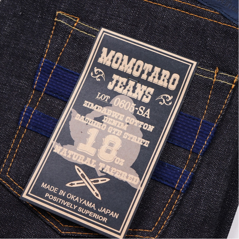 "Джинсы Momotaro Jeans 0605SA ""Sashiko GTB"" Natural Tapered 18 Oz Selvedge Raw"