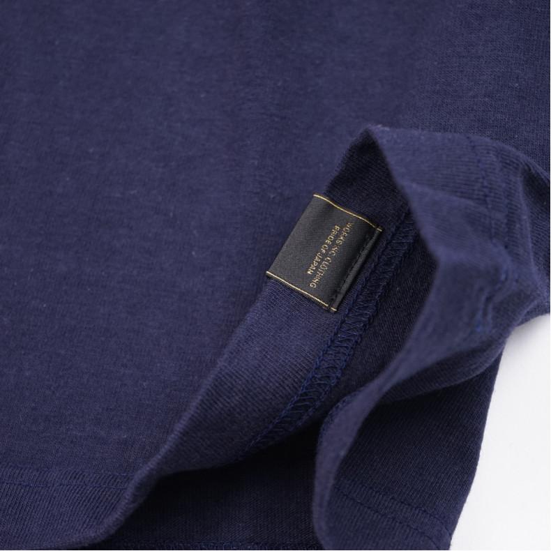 Футболка Iron Heart IHT-1800 Printed 6.5oz Loopwheel T-Shirts Navy/Yellow