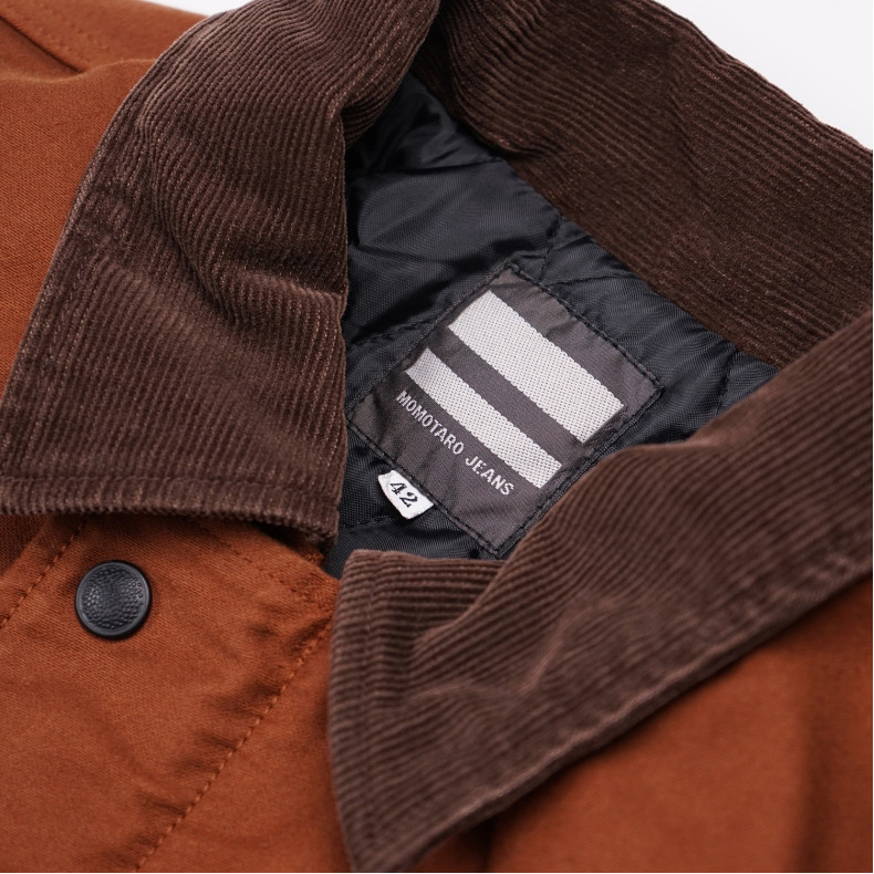 Куртка Momotaro Jeans 03-091 Heavy Moleskin Jacket Brown