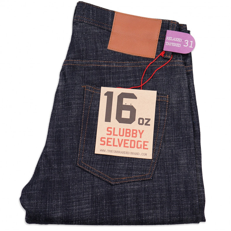 Джинсы The Unbranded Brand UB665 Relax Tapered Slubby 16 oz Selvedge