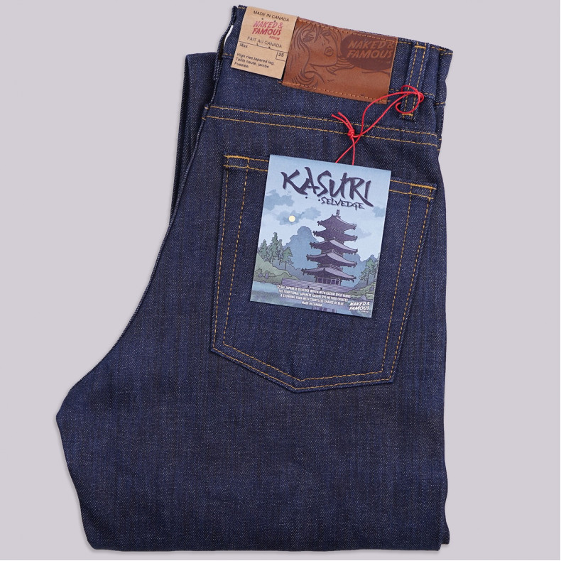 Женские Джинсы Naked and Famous Max Fit Kasuri Selvedge 12.5 oz Raw