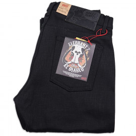 Джинсы Naked and Fmaous Weird Guy Elephant 7: El Diablo Black Selvedge 20 Oz Raw