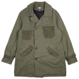 Бушлат Momotaro Jeans 03-097 Waterproof Military Pea Coat Army Green