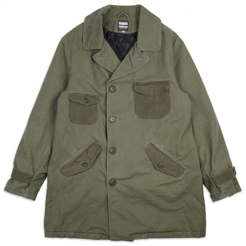 Бушлат Momotaro Jeans 03-097 Waterproof Military Pea Coat Army Green