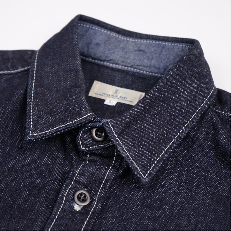 Рубашка Japan Blue Jeans Denim Shirt Indigo 14 oz
