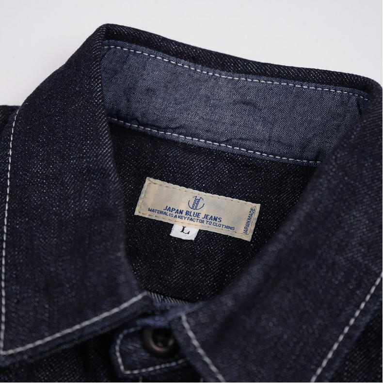 Рубашка Japan Blue Jeans Denim Shirt Indigo 14 oz