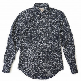 Regular Shirt British Flowers navy