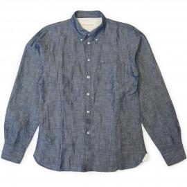Рубашка Universal Works Lin Cham indigo