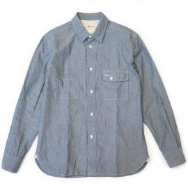 Рубашка Universal Works Worker Shirt Chambray indigo