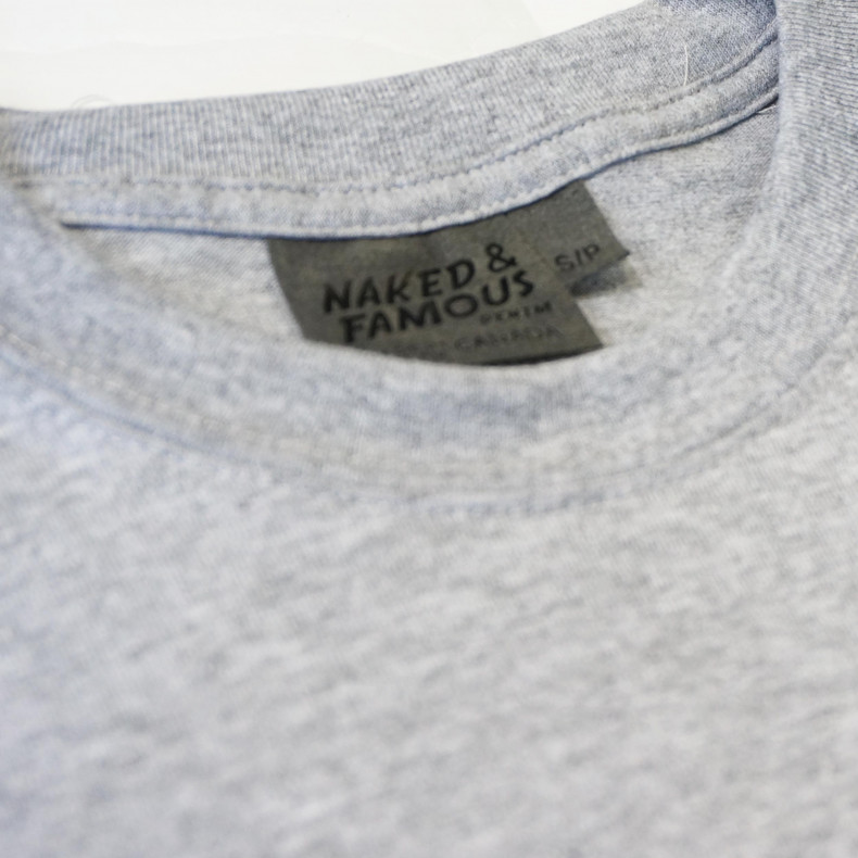 Футболка Naked and Famous Vintage Circular Knit grey