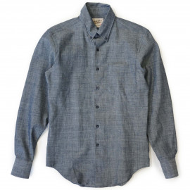 Рубашка Naked and Famous Slim Lightweight Chambray pale blue