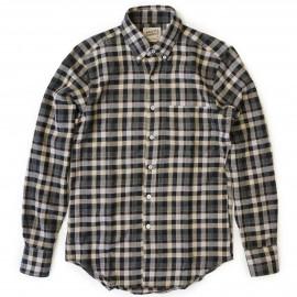 Рубашка Naked and Famous Regular Shirt Herringbone  Shadow Twill cream brown