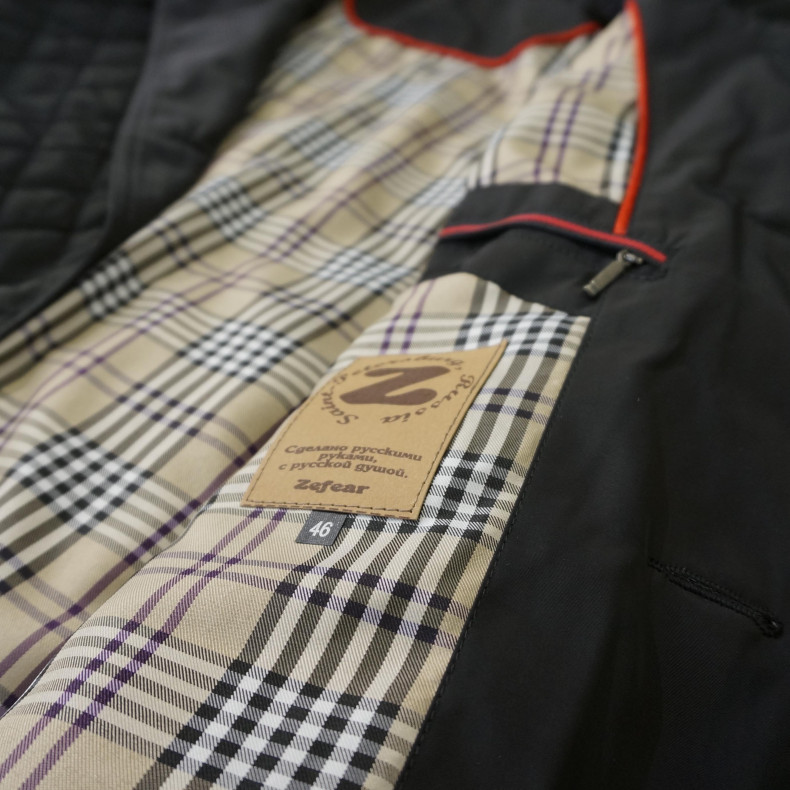 Стеганая куртка Zefear black/check