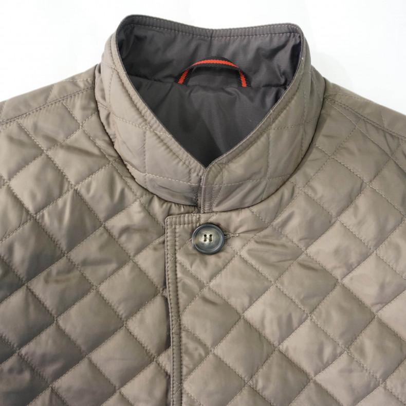 Стеганая куртка Zefear dark beige/check
