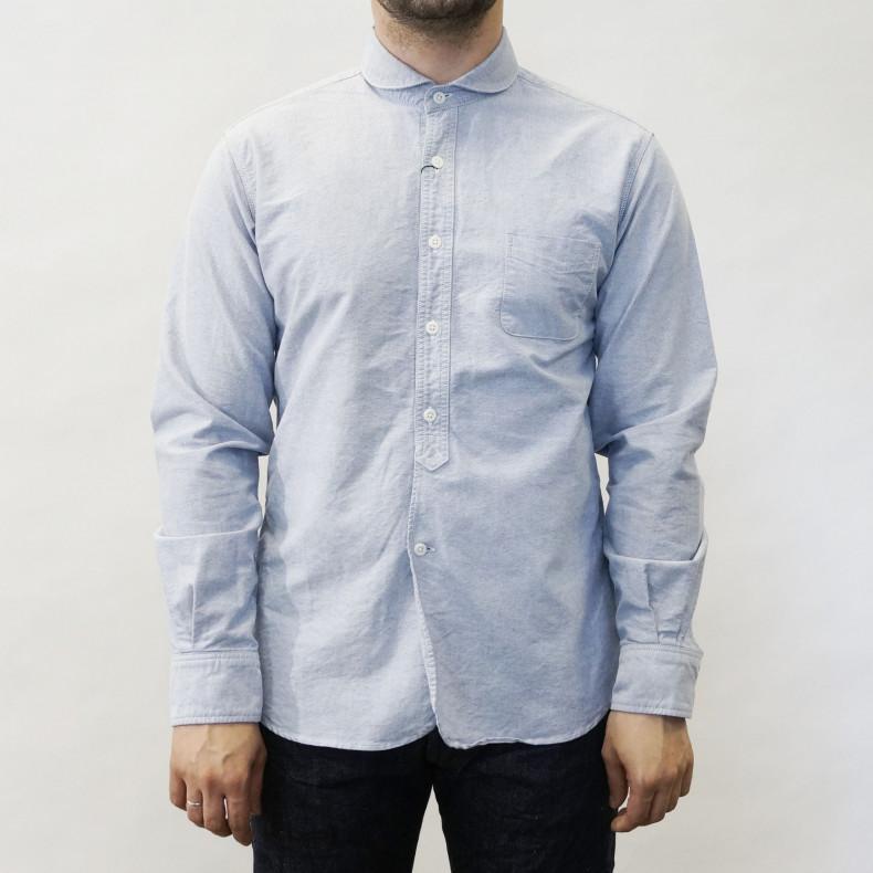 Рубашка Momotaro Jeans 05-091 Sax Oxford blue