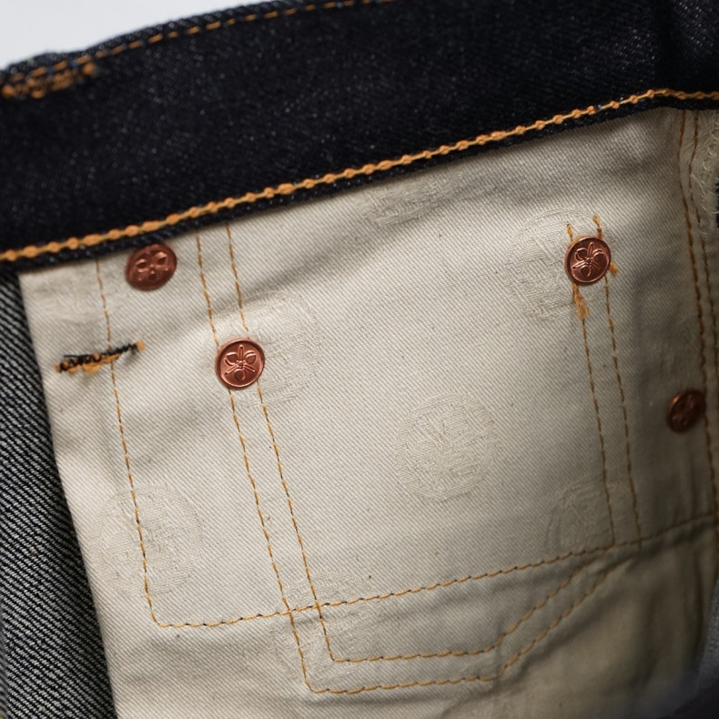 Джинсы Momotaro Jeans 0305-V Tight-Tapered Raw 15.7 Oz Selvedge