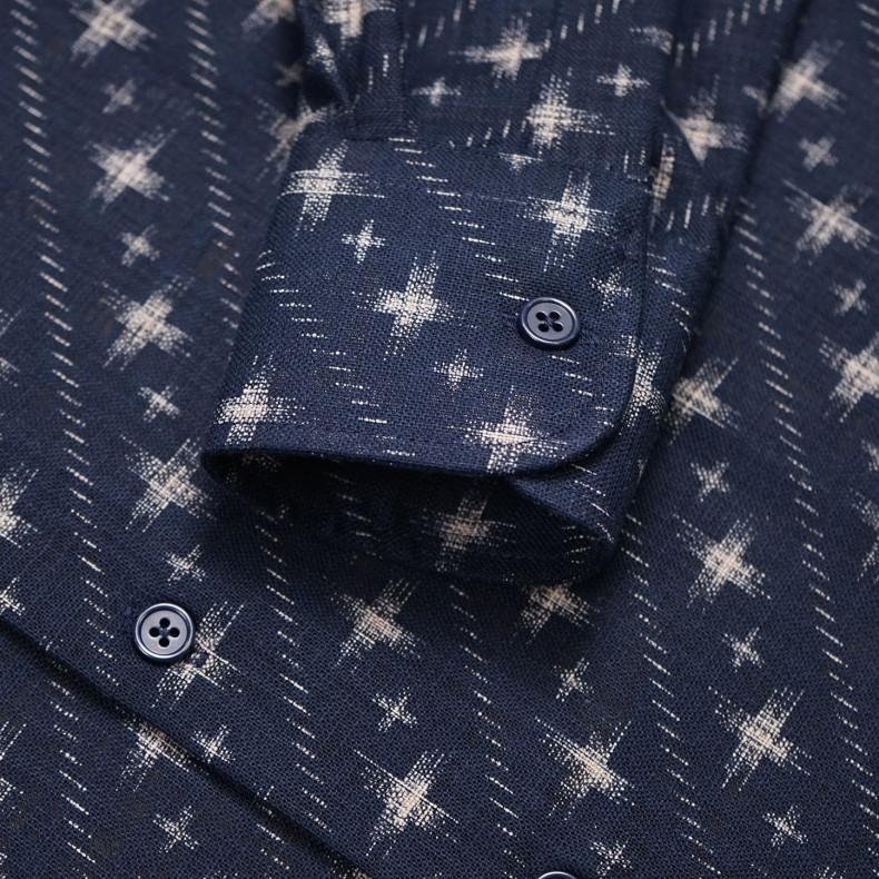 Рубашка Naked and Famous Regular Kimono Diagonal Symbols Navy