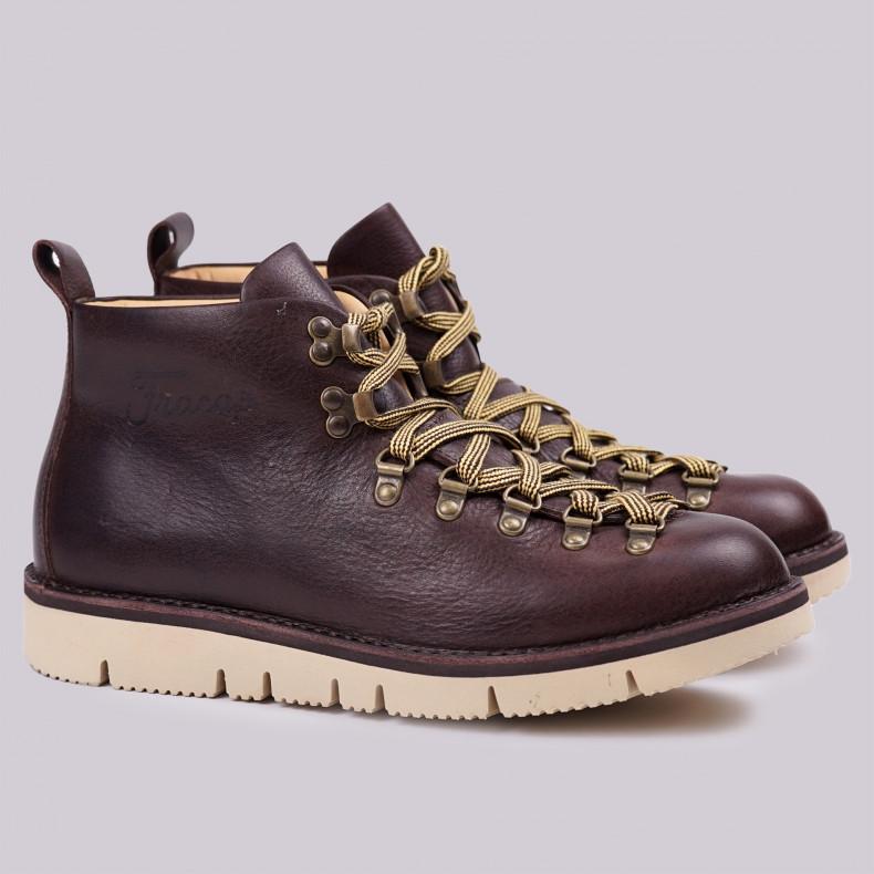 Ботинки Fracap M120 Scarponcino Dark Brown / Vibram Cut Beige