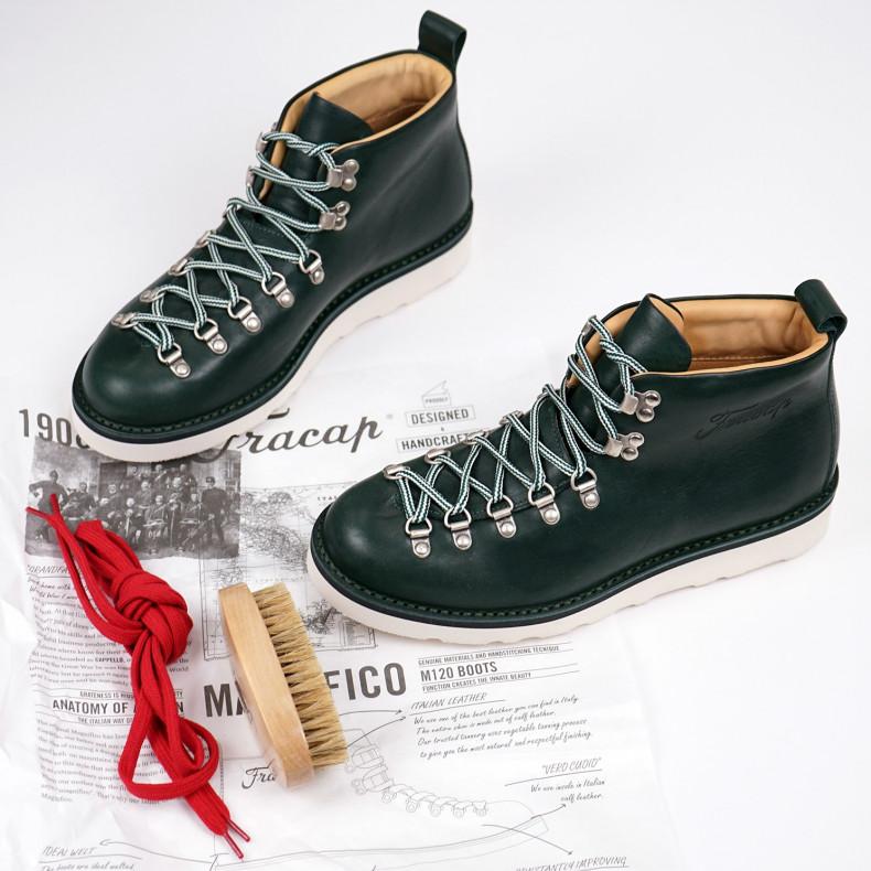 Ботинки Fracap M120 Scarponcino Dark Green / Vibram Cristy White