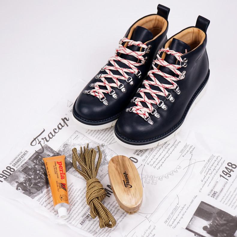 Ботинки Fracap M120 Scarponcino Navy / Vibram Cut White