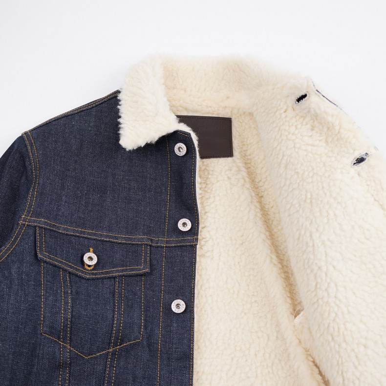 Джинсовая Куртка Naked and Famous Sherpa Jacket - Left Hand Twil Selvedge