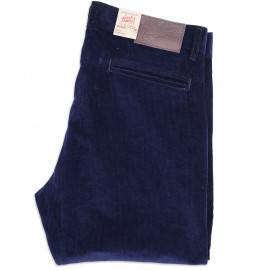 Брюки Naked and Famous Slim Chino Stretch Corduroy Navy