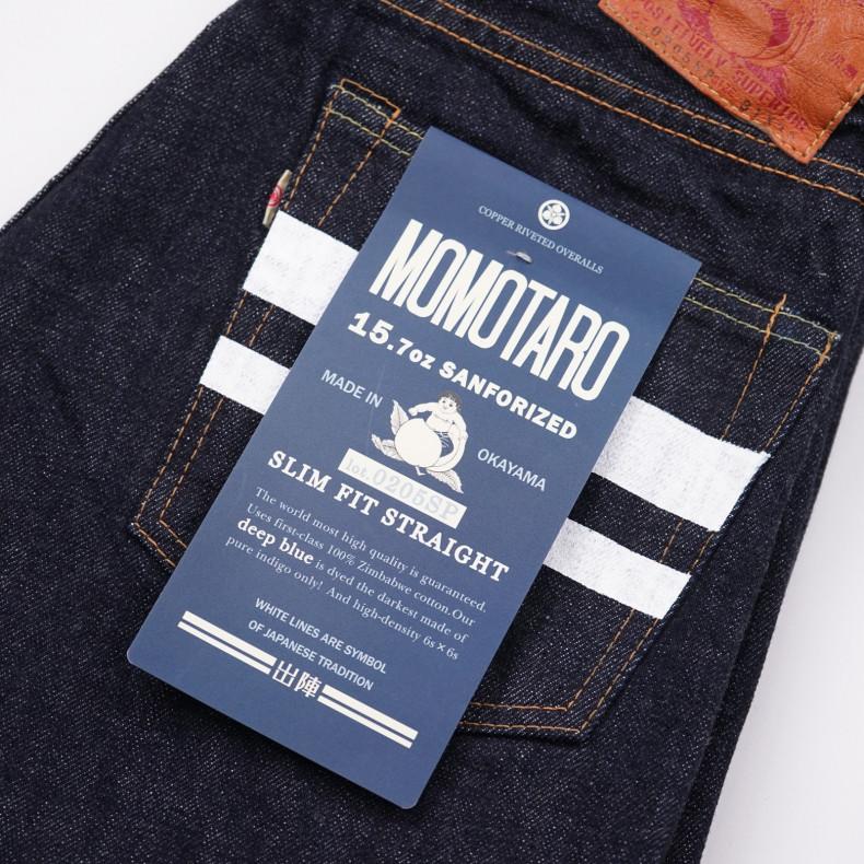 Джинсы Momotaro Jeans 0205-SP Slim Straight Going to Battle One Wash