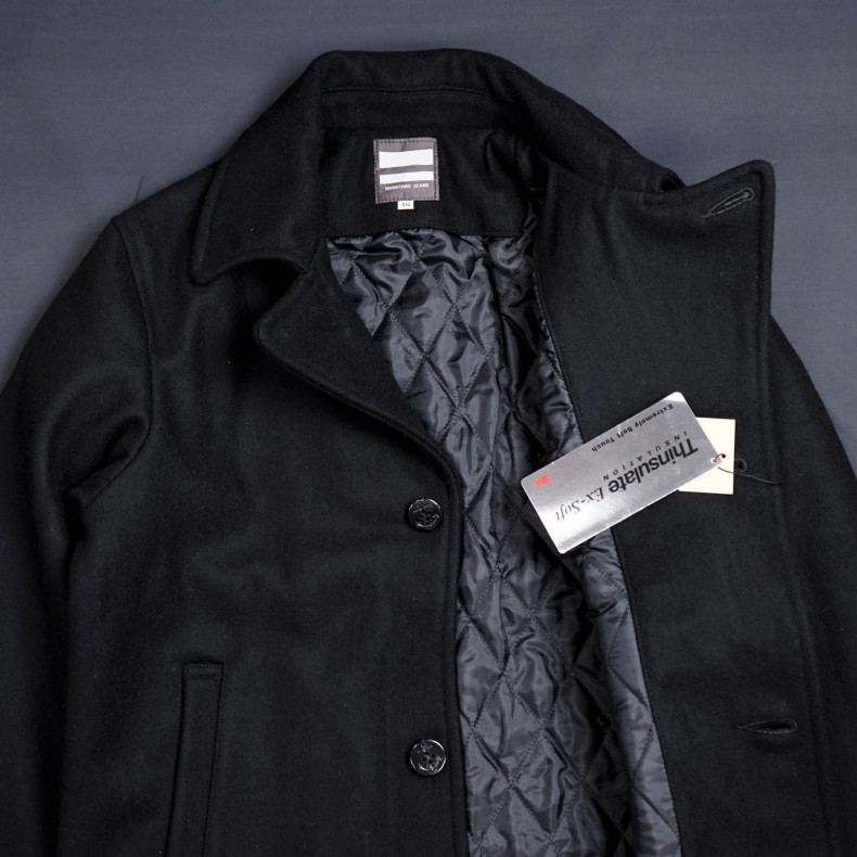Бушлат Momotaro Jeans 03-066 Melton P Coat Black