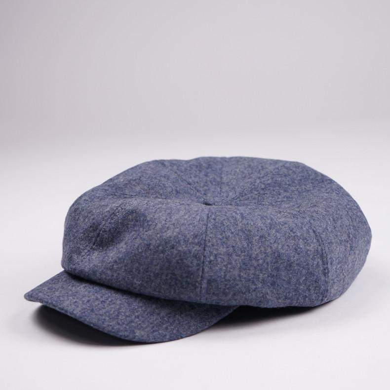 Классическая кепка Zefear Восьмиклинка 809 Puff - Светло-голубой / серый
