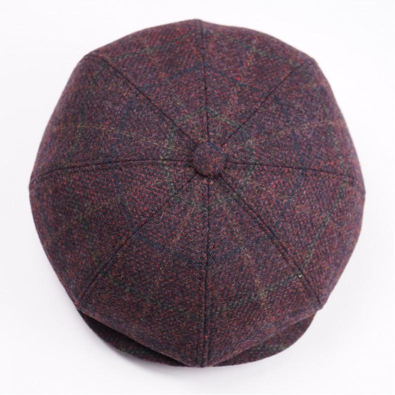Классическая кепка Zefear Восьмиклинка n8 Amaroni  - Коричнево-бордоваяклетка