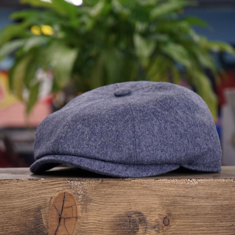 Классическая кепка Zefear Восьмиклинка 802 Puff - Светло синий / Серый