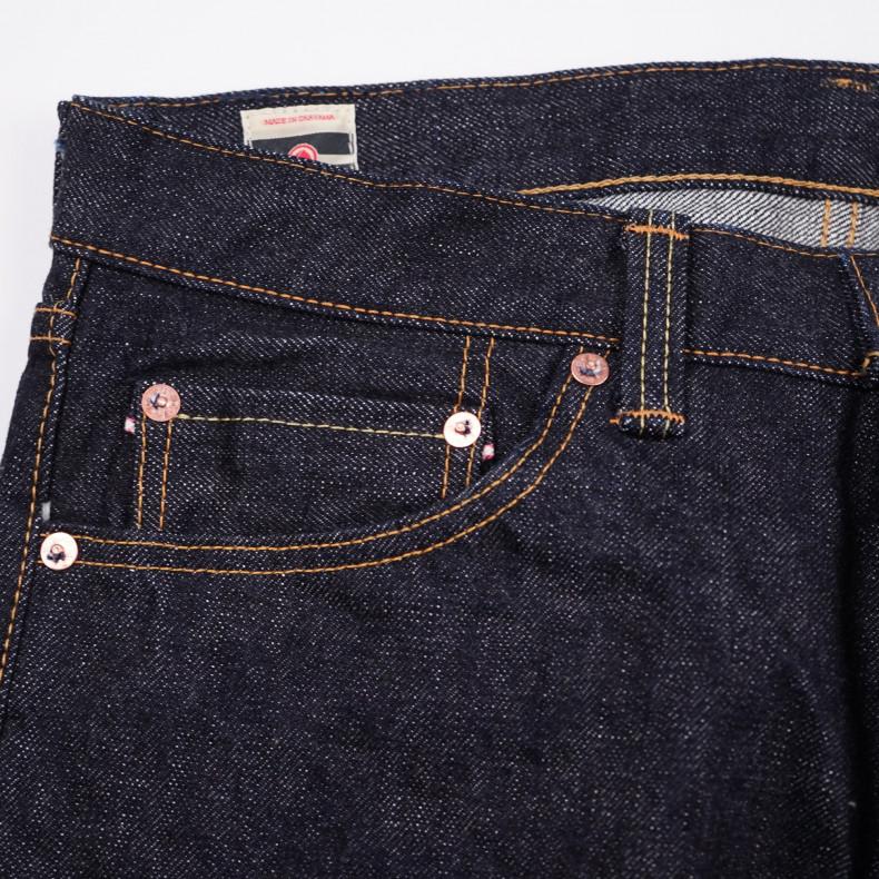 Джинсы Momotaro Jeans 0601-20 Natural Tapered Zimbabwe Cotton Selvedge 20 oz - One Wash