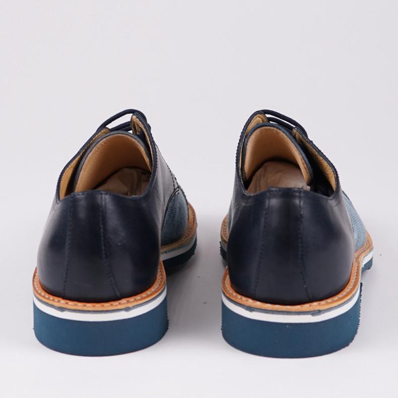Ботинки Fracap G166 316 Navy Blue Jeans Canvas / Bologna Blue