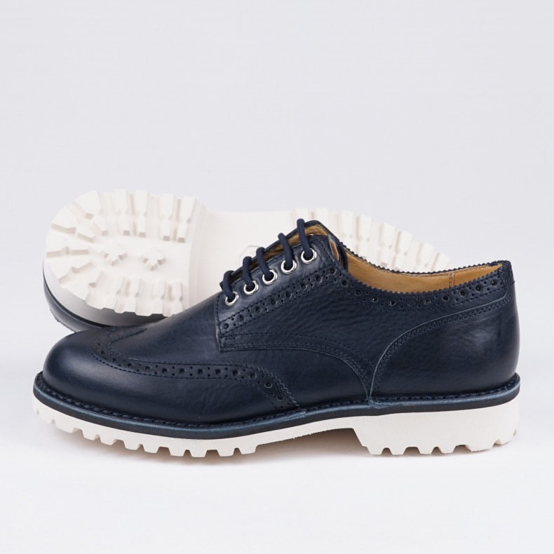 Ботинки Fracap G180 Brogue 316 Navy / Roccia White