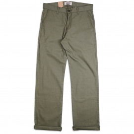 Брюки Naked and Famous Straight Chino Green Rinsed Oxford