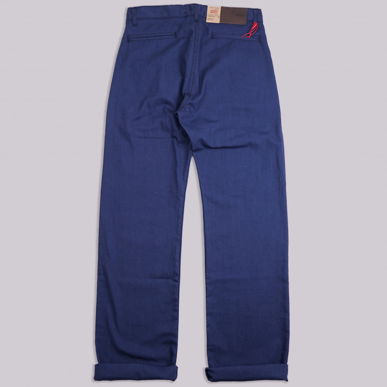 Брюки Naked and Famous Straight Chino Navy Rinsed Oxford