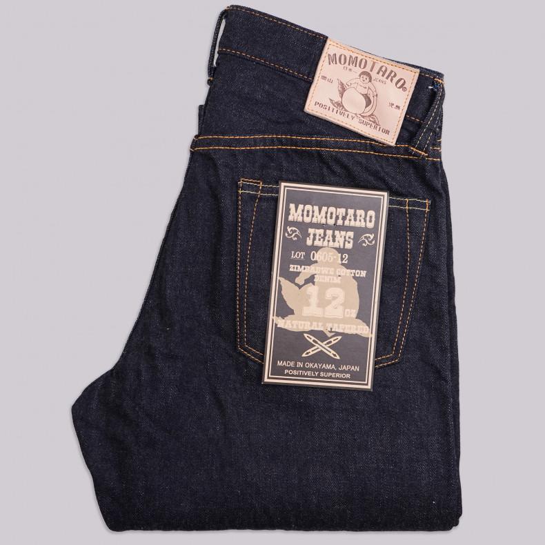 Джинсы Momotaro Jeans 0605-12 Natural Tapered Zimbabwe Cotton Selvedge - One Wash