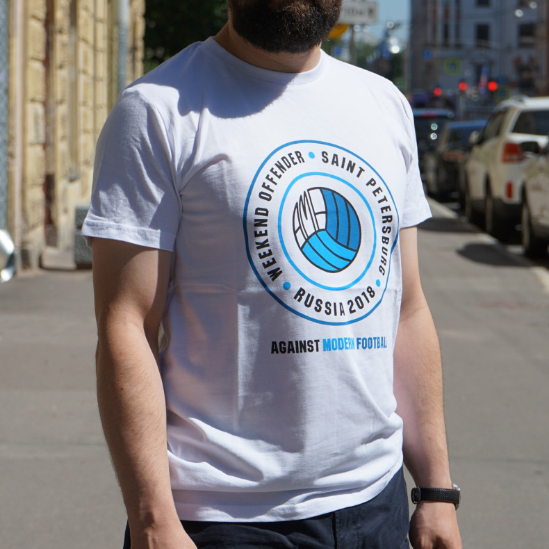 Футболка WEEKEND OFFENDER x Zefear AMF Saint-Petersburg White