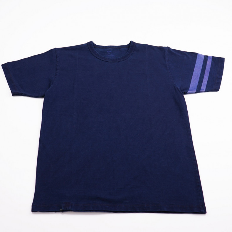 Футболка Momotaro Jeans MT302 I GTB Indigo Dyed