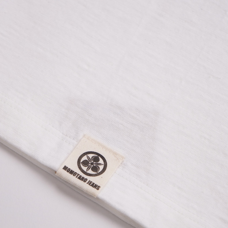 Футболка Momotaro Jeans 07-054 Zimbabwe Cotton · Bowling T-shirt White