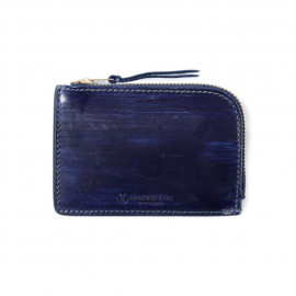 Кошелек Japan Blue Jeans JBAC006(ID) Leather Zipper Wallet Indigo Dyed